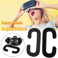 2PCS VR Glesses Eye Mask PU Leather Memory Foam Rosto Eye Máscaras substituição 3D VR Glesses Olhos Máscara para HTC Vive