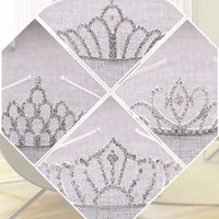 Cristales coronas de boda brillo con cuentas de cristal de cristal de cristal Tiara Tiara Crown Diadema Accesorios para el cabello Fiesta de la boda Tiara Pelo