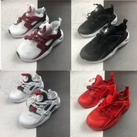 Niño Air Huarache Run 4 Kids Running Shoes Children Newn Baby Bebé al aire libre Entrenadores al aire libre niño Atlético Pequeño Big Boys Girls Sneaker