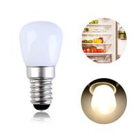 E14 E12 2W Frigorifero Illuminazione a LED Mini Lampadina AC220V Frigorifero Luce interna Bianco / Bianco caldo / Dimmerazione / No dimmer