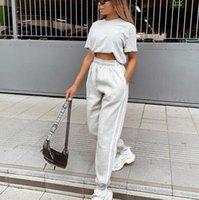 New women's street stitching webbing high waist casual pants