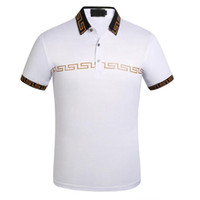 Moda-Erkek Tasarımcı Polo T Shirt Yaz Kısa Kollu Turn Down Yaka Kısa Kollu Polo Gömlek Tops
