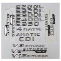 3D Chrome Letters Anzahl Trunk hintere Abzeichen Emblem Embleme Abzeichen W212 W211 W213 E200 E220 E250 E350 CDI 4MATIC