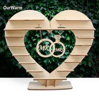 OurWarm Şeker Bar Nikah Masası Dekorasyon Centrepiece tahta kalp Ferrero Rocher Çikolata Doğum Parti Malzemeleri Standı