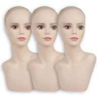 1 pezzo vendita calda 2 modelli disponibili in PVC Mannequin testa vendita per parrucche gioielli e cappelli display