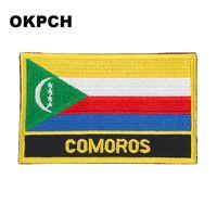 Spedizione gratuita 8 * 5cm Comore forma bandiera del Messico ricamo ferro sulla patch PT0092-R