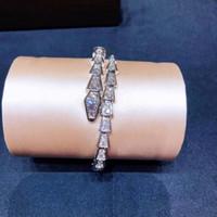 Full Bohrer Snake Dame Armband Persönlichkeit Mode Trend Frauen Armbänder Freies Verschiffen Twinkle Dance Party Geschenk, die Prominente edel geben