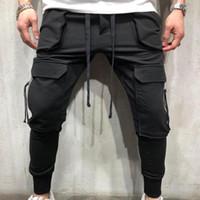 Мужские брюки-карго случайные мужские прямые брюки Брюки мульти карман общий мужчины на открытом воздухе брюки плюс размер
