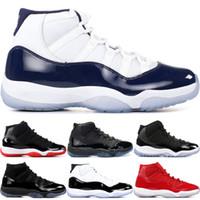 Concord Yüksek 45 11 XI 11s Yılan Donanma Pembe Yılan derisi Şapkanız Gym Kırmızı Kadın Erkek Basketbol Ayakkabı spor Sneakers 36-47
