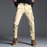 Dropping 2019 New Arrive Cargo Pants Men Solid Casual Pocket...