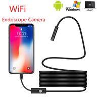 Wifi mini USB del endoscopio lente de la cámara de 8 mm 1M / 3M / 5M / 7M / 10M 8LED impermeable HD cámara de cable Cámaras de Inspección de tubos serpiente 720P USB