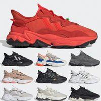 Ozweego 2020 Chaussures Casual design Ozweego Hommes Femmes Blanc Multicolore Nuage Blanc Noir Trail Casual Chaussures de sport Chaussures de sport Entraîneur EUR 36-45