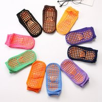 Parte inferior antideslizante de silicona 1-4 años de interior para niños educación temprana trampolín de yoga calcetines sección delgada casa calcetines deportivos calcetín LJJZ261