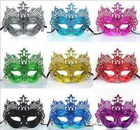 Misteriosa del metal del oro maske magnífico y elegante de la mascarada máscara de ojo de Phoenix travesti femenina