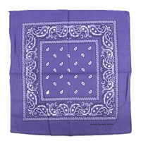 Newest 100% Cotton Hip- hop Bandanas For Male Female Head Sca...