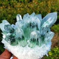 Über 200g, 300g, 400g, 500g New Green Phantom Quarz-Kristall-Cluster Mineral Specimen Heilung finden