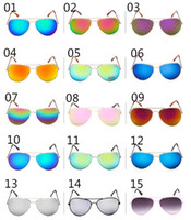 G01 sunglaess мужской моды Cолнцезащитные очки Классические очки Ретро Авиатор Зеркальные Светоотражающие объектива Солнцезащитные очки Урожай Открытый Frog ВС