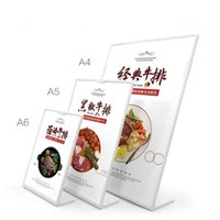 A6 L Shape Acrylic Poster Menu Holder Stand Lean to Perspex ...