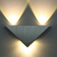 Moderne LED Wandleuchte 3W Aluminium Körper Dreieck Wandleuchte für Schlafzimmer Home Beleuchtung Leuchte Badezimmer Licht Fixture Wandmännchen