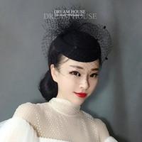 Heißer Verkauf Rote Kirche Frauen Hochzeit Haarnadel Braut Formale Hut Partei Birdcage Kentucky Derby Partyhut Für Frauen
