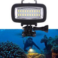 Tieftauchen wasserdichte Selfie Licht SL-100 6W 5500K 700lm LED-Kamera-Licht mit 20 LEDs Selfie Licht Kameramelampe Kontinuierliche Beleuchtung
