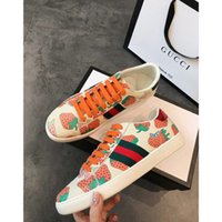 Ace Series Ladies Strawberry Printed Freizeitschuhe Fashion Luxury Designer Damenschuhe Designer Fashion Luxury 2019 Brand Herrenschuhe
