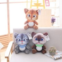 20cm Cute Soft 3D Simulation Stuffed Cat Toys Sofa Pillow Cu...