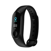 Factory Store per Mi banda di pressione 4 di Smart Watch Band polsino del braccialetto del Fitness Tracker Sangue frequenza cardiaca M3plus Smartwatch Drop Shipping