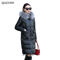 QAZXSW 2018 New Genuine Leather Down Jacket Coat Women Cloth...