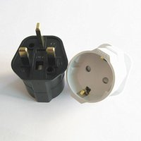 European Euro EU Schuko 2 Pin to UK 3 Pin Plug Adaptor Trave...