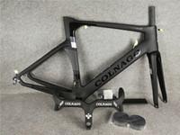 Guiador de Colnago Preto + Black Colnago Carbono Estrada Bicicleta Frame Completo Fibra De Carbono Quadro BB386 2021