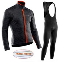 NW 2019 Winter Thermal Fleece Cycling Jersey long sleeve Bic...