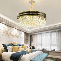 Nuovo design K9 contemporanea lampadari di cristallo bordo del lampadario apparecchio di illuminazione d'oro luminoso soggiorno camera da letto nero portato lampade a sospensione