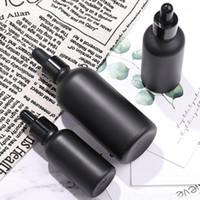 Die beliebtesten 10ml 15ml 30ml 50ml 100ml Matte Black Glas kosmetische Tropfflaschen E Flüssigkeit Leere Flasche für Öle