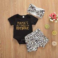 Menoea 0-2Y infantil Bebés Meninas Roupas Confecções Sets 2020 New Style Leopard Print T-shirt Top Shorts Outfit recém-nascido Roupa Boy