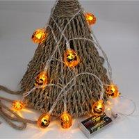 LED Peri Dize Işık Pil Kabak Cadılar Bayramı Dekorasyon Tatil Aydınlatma Festivali dekor 10/20 LED'ler Kabak Işıklar Lamba JK1909XB İşletilen