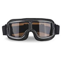 العالمي خمر للدراجات النارية نظارات الطيار الطيار الطيار دراجة نارية سكوتر السائق نظارات خوذة نظارات طوي ل هارلي