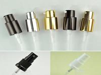 bottle caps silver black aluminum lid mist spray pump head cover 18mm glass bottle neck applicable perfume bottle sprayer
