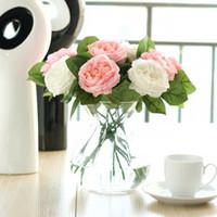 Sztuczna piwonia bukiet kwiaty noc róża piwonia symulacja kwiat jedwabiu róże do domów stół party ślub świąteczne dekoracje LXL211-A