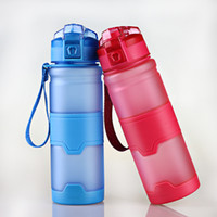 Botella de 500 ml de agua Deportes botella de agua de plástico a prueba de fugas con tirón tapa superior prueba de fugas libre de BPA Tritan botellas de peso ligero