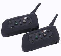 Vatone V6 Walkie Talkie 1200m Motorrad Bluetooth Helm Intercom für 6 Fahrer BT Wireless Wasserdichte Interphone Headsets MP3 10pcs