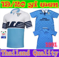 New thai quality Lazio soccer Jersey 1991 IMMOBILE Home away...