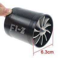 CAR doppia ventola di aspirazione dell'aria Supercharger del Turbo del combustibile della turbina a gas del risparmiatore Fan Nero