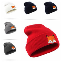6 Colors Polyester Cartoon Fox Winter Hats Adult Children Br...