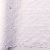 WorthSJLH Cotton African Lace Fabric 2018 Swiss Voile White ...