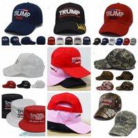 Trump 2020 şapka Açık Başkanı Trump 2020 Beyzbol şapkası ABD Amerikan Bayrağı Ayarlanabilir Snapback Trucker Hat LJJK1514