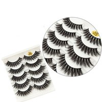 3D 6D False Eyelashes 43 Styles Natural Long Crisscross Eyel...