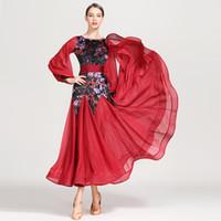 2019 платье стандартный бальное платье бахрома женщины танцевальные платья танго красный бальный конкурс платья вальс костюмы фламенко платье