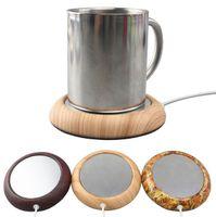USB Cup Tearer Metal Coaster Портативный офис Домашний Дом USB Электрический настольный чай для чая кофе Кубок напитков кружка теплый коврик Pad алюминиевая пластина