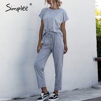 Simplee 2 Piece Sets Women Summer Tracksuit Long Sleeve Thic...